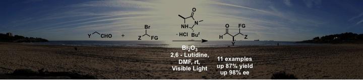 Fig. 5 – Light-Driven Organo catalysis Using Inexpensive, Nontoxic Bi2O3 as Photocatalyst.