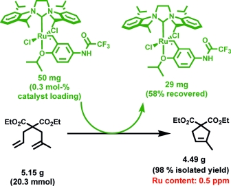 Towards long-living metathesis catalysts by tuning the N-heterocyclic carbene (NHC) ligand on trifluoroacetamide-activated boomerang Ru complexes