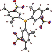 X-ray structures of the tris(2,4-xylyl)phosphane and its trisulfonated derivative: Molecular architecture of a water-soluble sulfonated phosphane with propeller chirality