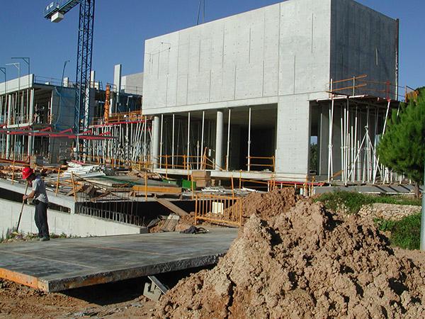 3.Construction works start.