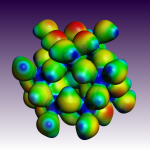 Molecular electrostatic potential mapped onto electron density of Zn(CrAl)12