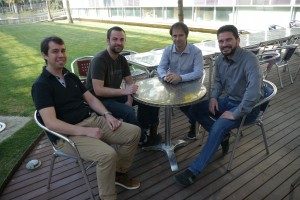 Part of the research team that carried out this research, led by Prof. Paolo Melchiorre (right).