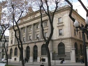 The 'Banc d'Espanya' historic building, in Tarragona's city centre.