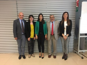 Dr. Ferrer with her supervisor, Prof. Antonio Echavarren, and the evaluation committee