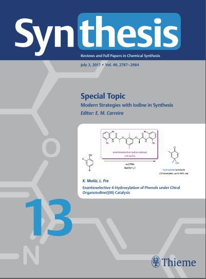Synthesis 2017, 49, 2901-2906. DOI: 10.1055/s-0036-1588808