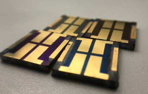 Perovskite solar cells with different materials as HTMs also present different colours. Credit: ICIQ