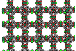 Representation of the (Ru)HKUST-1 MOF. Credit: Manuel A. Ortuño