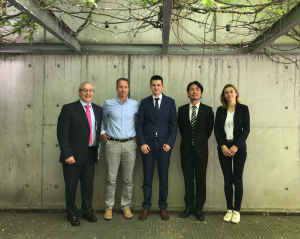 Dr. Corral with the members of the examining committee and his supervisor, Atsushi Urakawa.