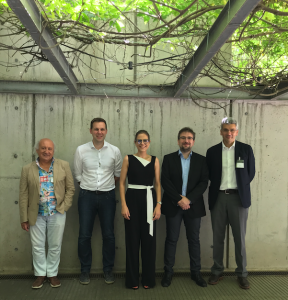 Dr. Casadevall with the members of the evaluation committee and her supervisor, Prof. Júlio Lloret-Fillol.