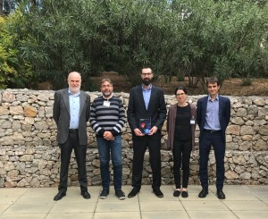 Adiran de Aguirre Fondevila with the members of the evaluation committee and his supervisor Prof. Feliu Maseras.