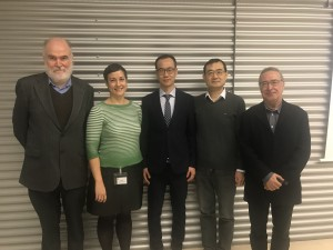 Dr. Ni with the members of the evaluation committee and his thesis supervisor