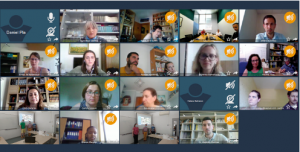 Screenshot of the virtual kick-off session