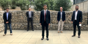 Dr. Gandolfo with the members of the evaluation committee and the thesis supervisor