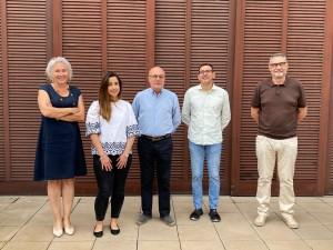 From left to right: Laia Pellejà (ICIQ Administrative director), Geyla Dubed (ICIQ predoc), Roc Muñoz (la Canonja mayor), Emilio Palomares (ICIQ director) and Salvador Ferré (la Canonja deputy mayor)