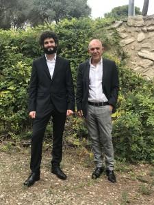 Dr. Caniparoli with his thesis supervisor, Prof. Antonio Echavarren